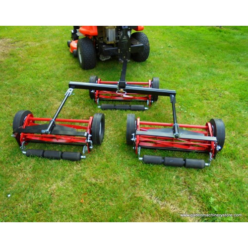 "Gang mowers 3 set 58"" cut - sports field mowers - trailed mowers, for 12 hp ride on mowers."