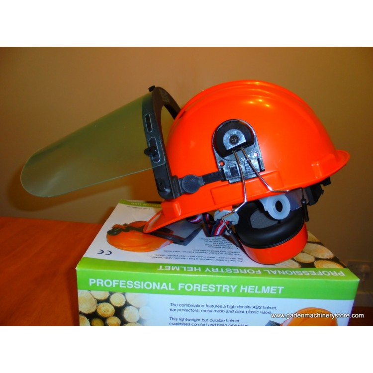 fba94175d78 Chainsaw helmet visor ear muff combi Rocwood Power-Tech 22999-4276 with  mesh